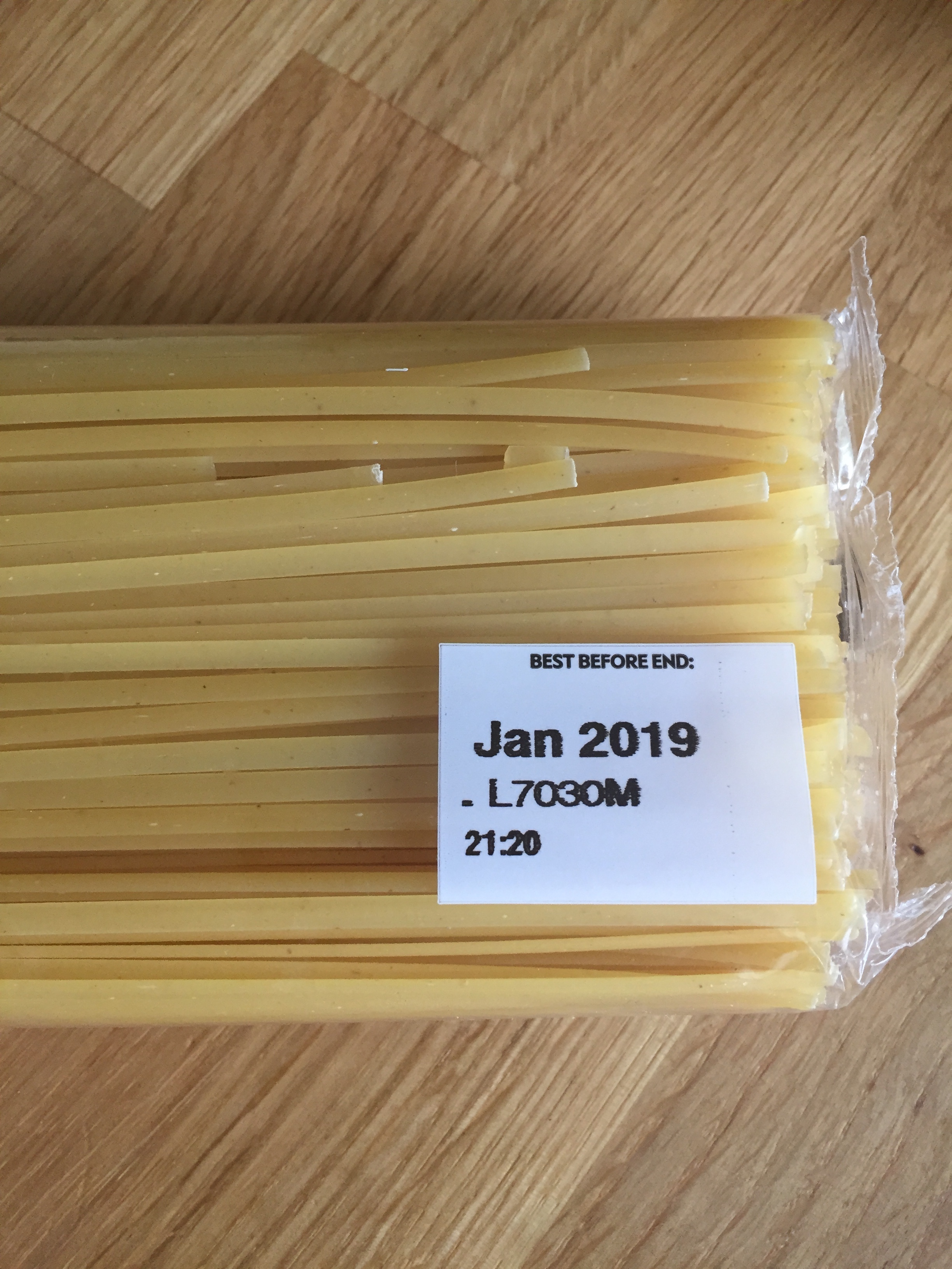 Pasta has a best-before not a use-by-date