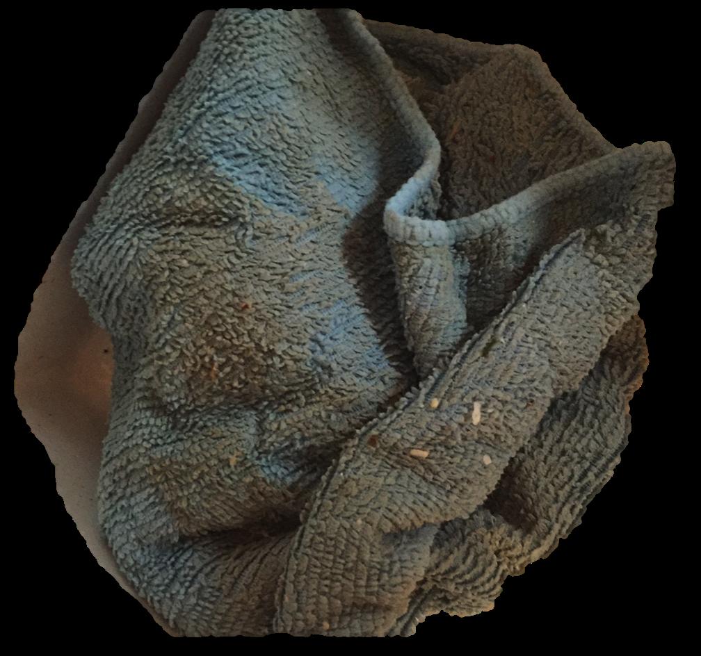 Dirty kitchen cloth